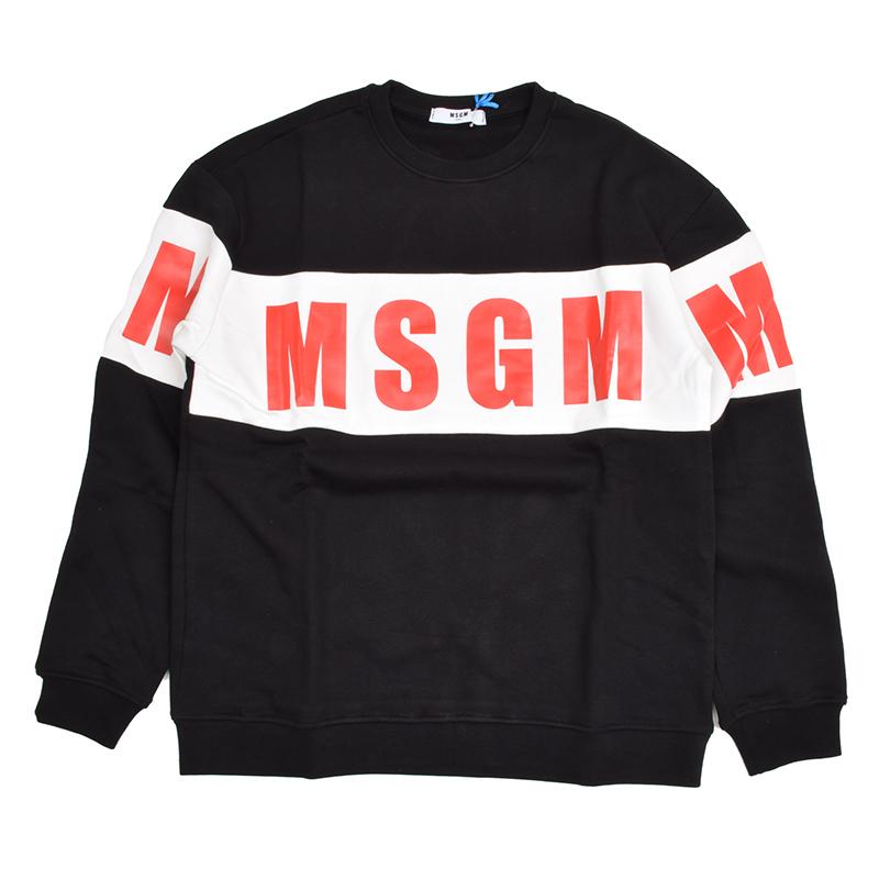 MSGM エムエスジーエム キッズ ブラックスウェット イタリア正規品 新品 015831