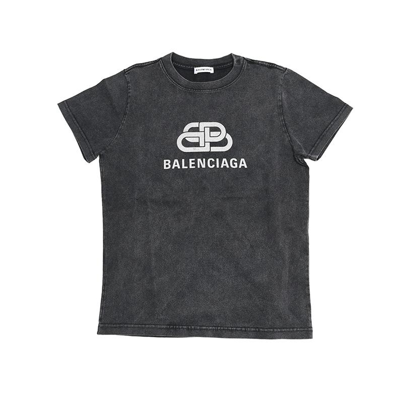 BALENCIAGA バレンシアガ レディース ウォッシュグレー半袖Tシャツ イタリア正規品 新品 583245 TGV75 1140