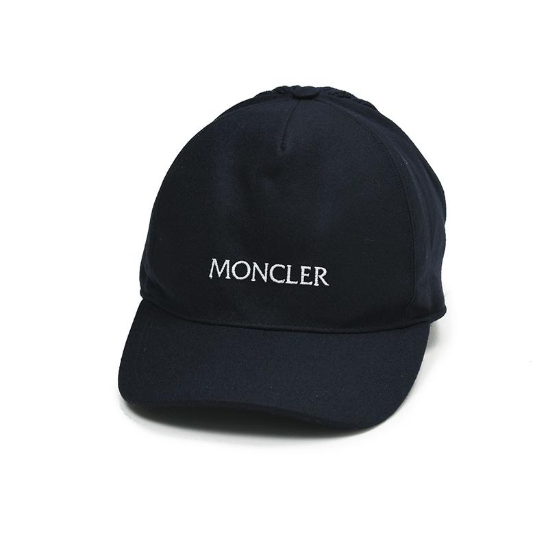 ユニセックス BERRETTO BASEBALL MONCLER 新作多数 モンクレール イタリア正規品 ネイビーニットベースボールキャップ帽子 新品 日時指定 3B72700