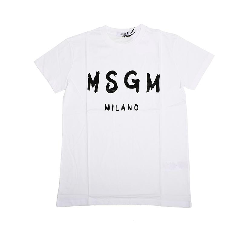 MSGM エムエスジーエム キッズ ロゴホワイト半袖Tシャツ イタリア正規品 新品 020742