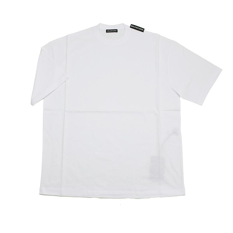 メンズ BALENCIAGA 毎日続々入荷 バレンシアガ ロゴ半袖Tシャツ イタリア正規品 578139 市販 新品 TEV18 9044