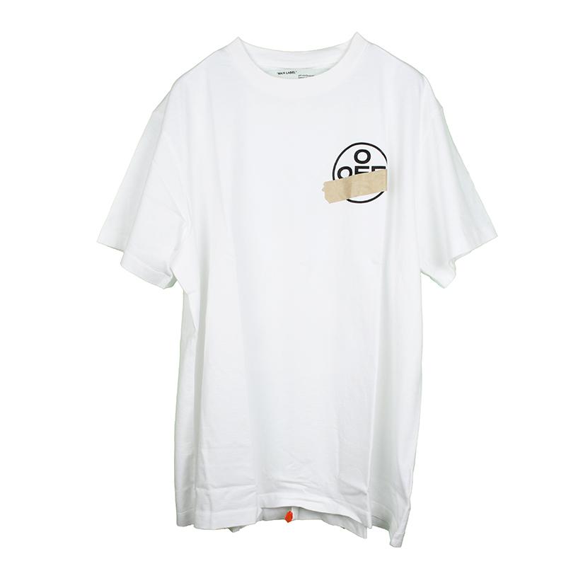 OFF-WHITE オフホワイト TAPE ARROWS オーバーホワイト半袖Tシャツ イタリア正規品 OMAA038R201850020148 新品