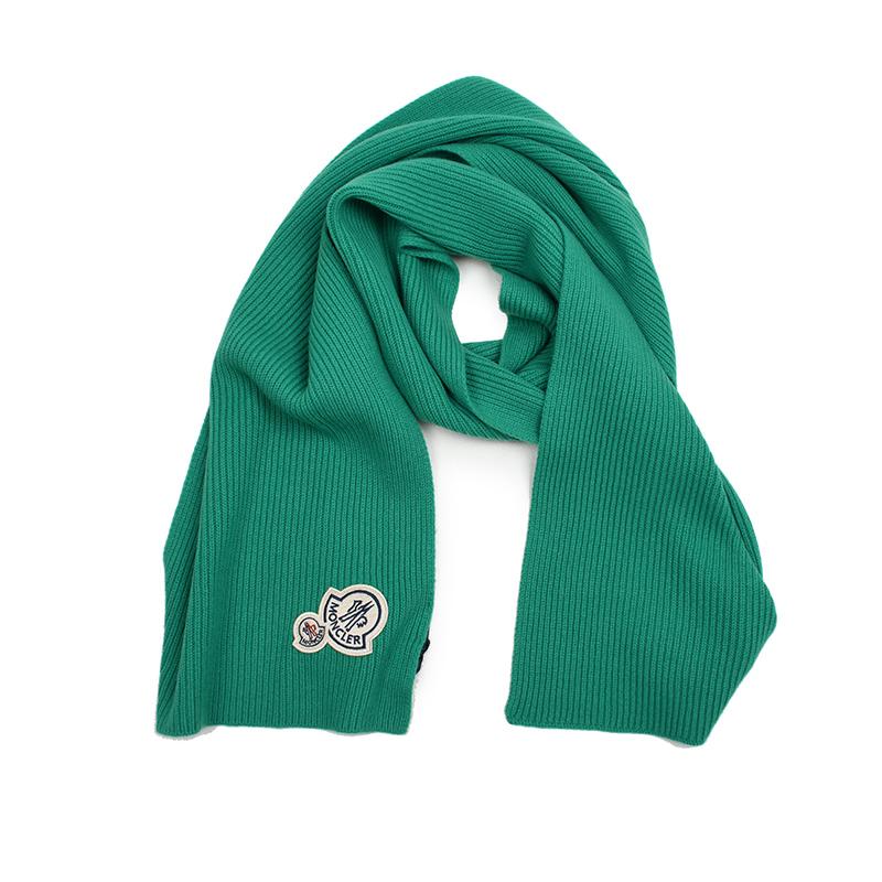 MONCLER モンクレール グリーンカシミア混ウールマフラー 帽子 イタリア正規品 新品