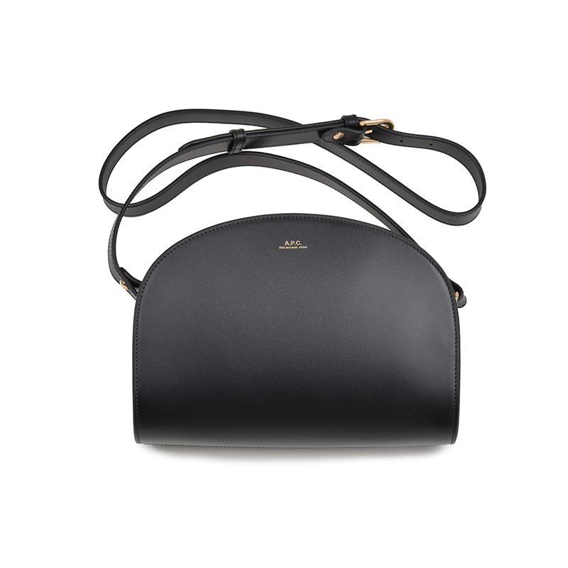 A.P.C. アーペーセー ブラックハーフムーンバッグ イタリア正規品 新品 鞄 PXADM-F61048 Sac Demi-Lune