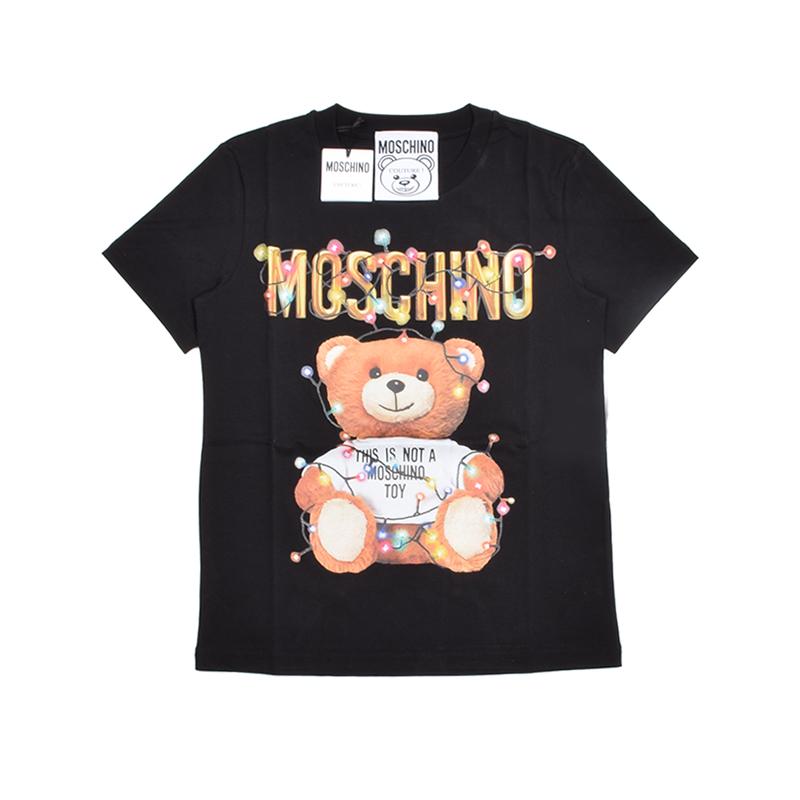 MOSCHINO モスキーノ ブラックテディ半袖Tシャツ イタリア正規品 新品
