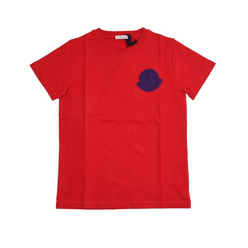 MONCLER KIDS モンクレール レッド半袖Tシャツ キッズ イタリア正規品 新品
