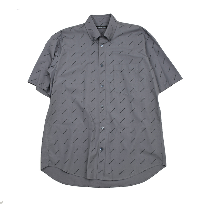 BALENCIAGA バレンシアガ メンズ ロゴ半袖シャツ イタリア正規品 534332 TBL96 1262 新品