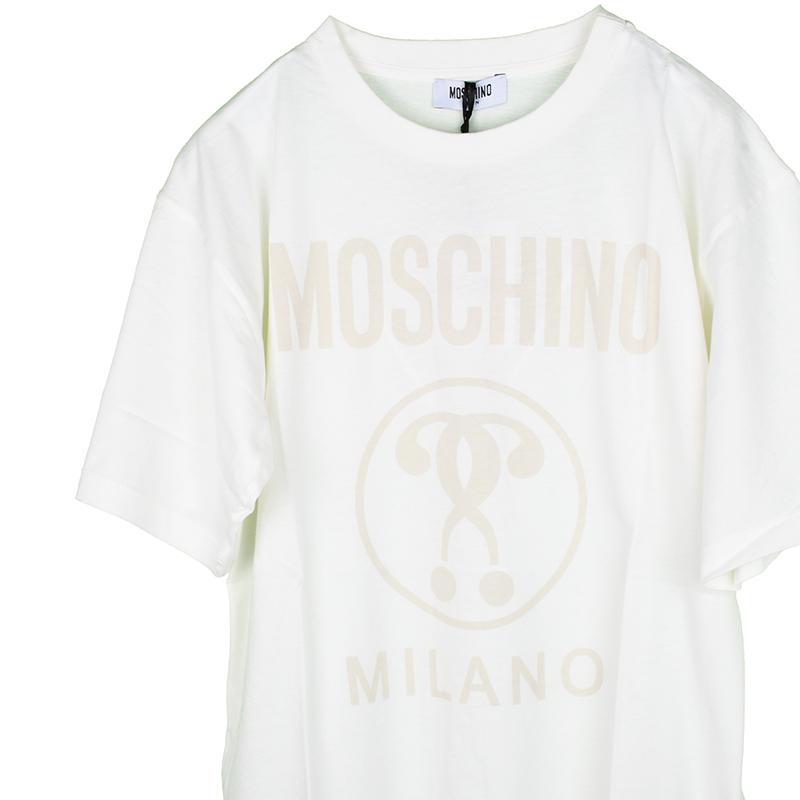 MOSCHINO モスキーノ TEEN オフホワイトロゴ半袖Tシャツ イタリア正規品 HOM029 新品