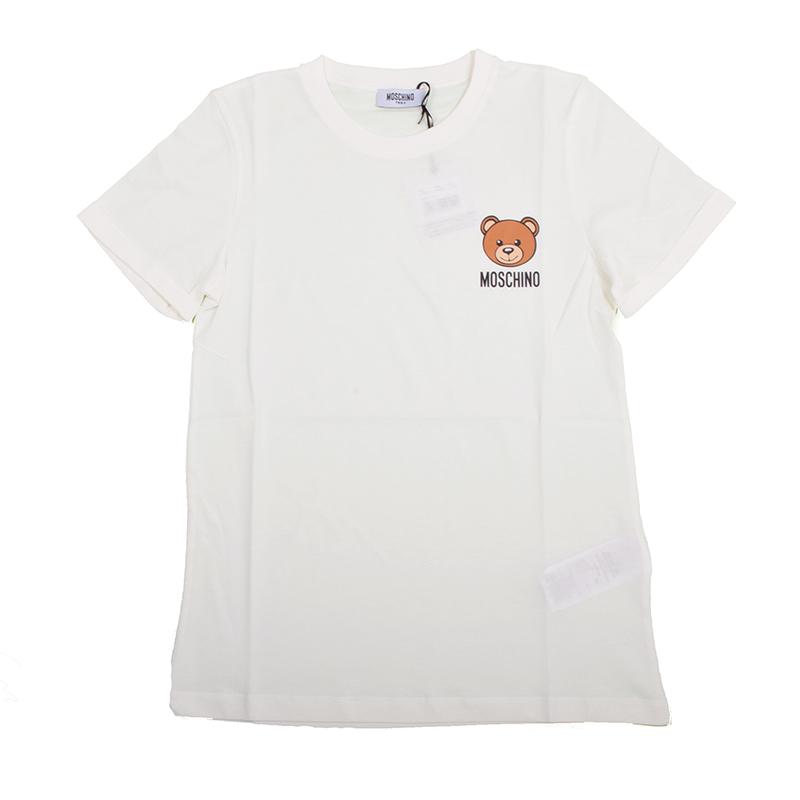 MOSCHINO モスキーノ TEEN オフホワイトテディ半袖Tシャツ イタリア正規品 HUM02C 新品