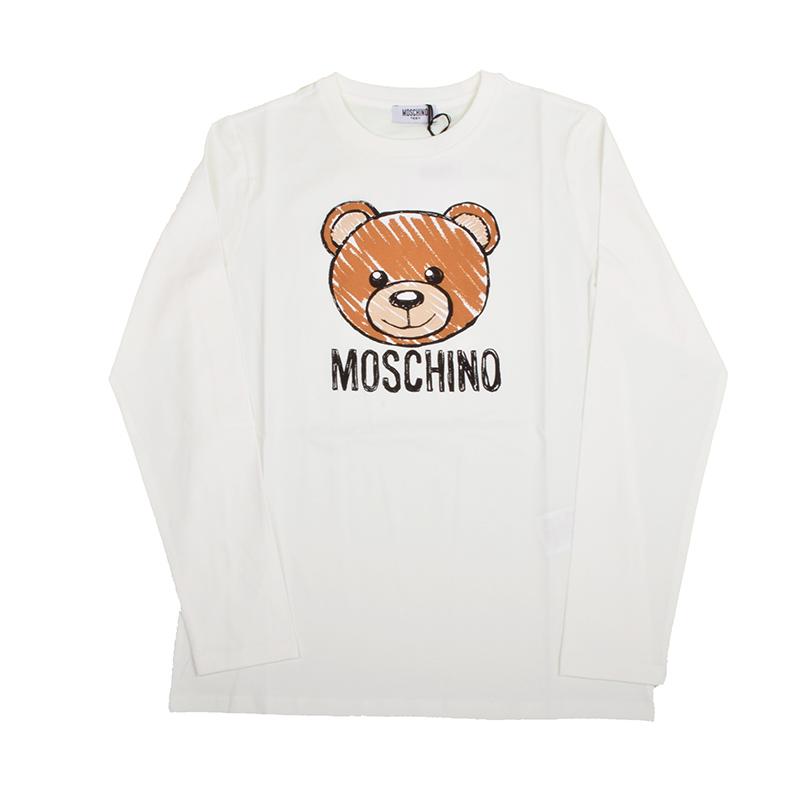 MOSCHINO モスキーノ TEEN オフホワイトテディ長袖Tシャツ イタリア正規品 HZM01P 新品
