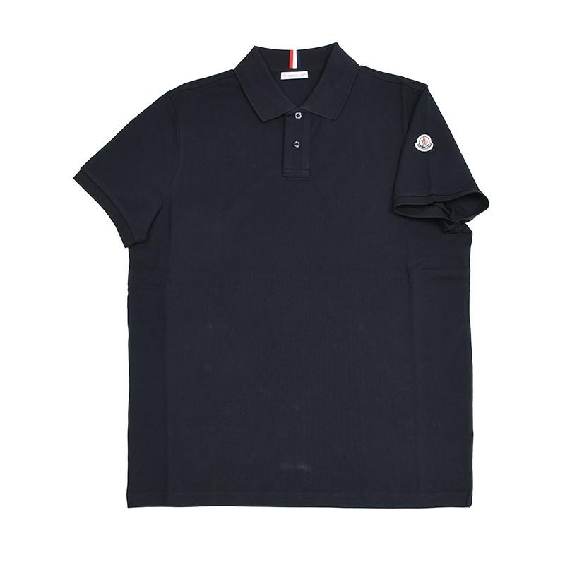 MONCLER モンクレール ネイビー半袖ポロシャツ メンズ イタリア正規品 新品 8306200 新品