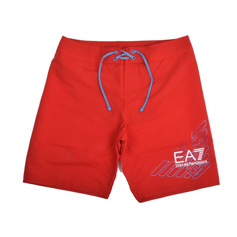EMPORIO ARMANI EA7 エンポリオ アルマーニ メンズ ロゴレッドスイムショーツ 水着 イタリア正規品 新品 9020039 P724