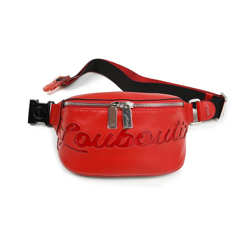 CHRISTIAN LOUBOUTIN クリスチャンルブタン MARIE JANE レッドベルトバッグ 鞄 イタリア正規品 3195254 R297 新品