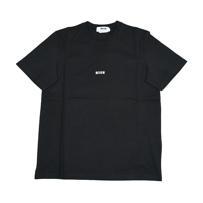 メンズ MSGM エムエスジーエム ミニロゴブラック半袖Tシャツ イタリア正規品 (人気激安) 新品 日時指定 2940MM162