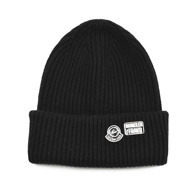 メンズ MONCLER FRAGMENT モンクレール ヒロシフジワラ ブラックウールニットキャップ 帽子 9900100 イタリア正規品