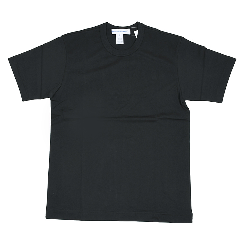 COMME des GARCONS SHIRT コムデギャルソン ブラック半袖Tシャツ イタリア正規品 新品