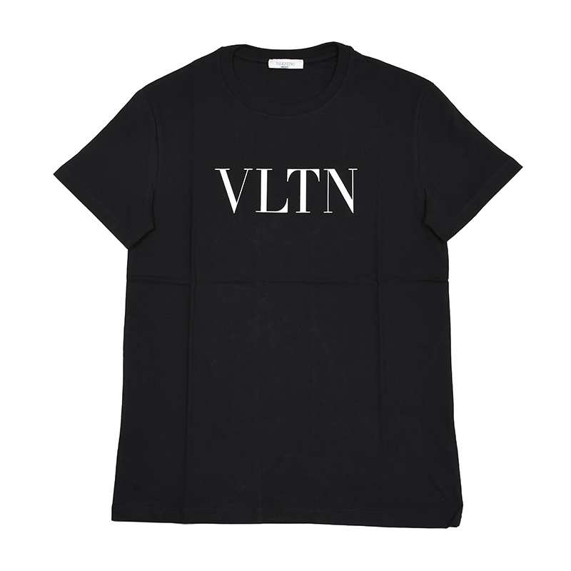 VALENTINO ヴァレンティノ メンズ VLTN ブラック半袖Tシャツ イタリア正規品 新品 TV3MG10V3LE メンズ
