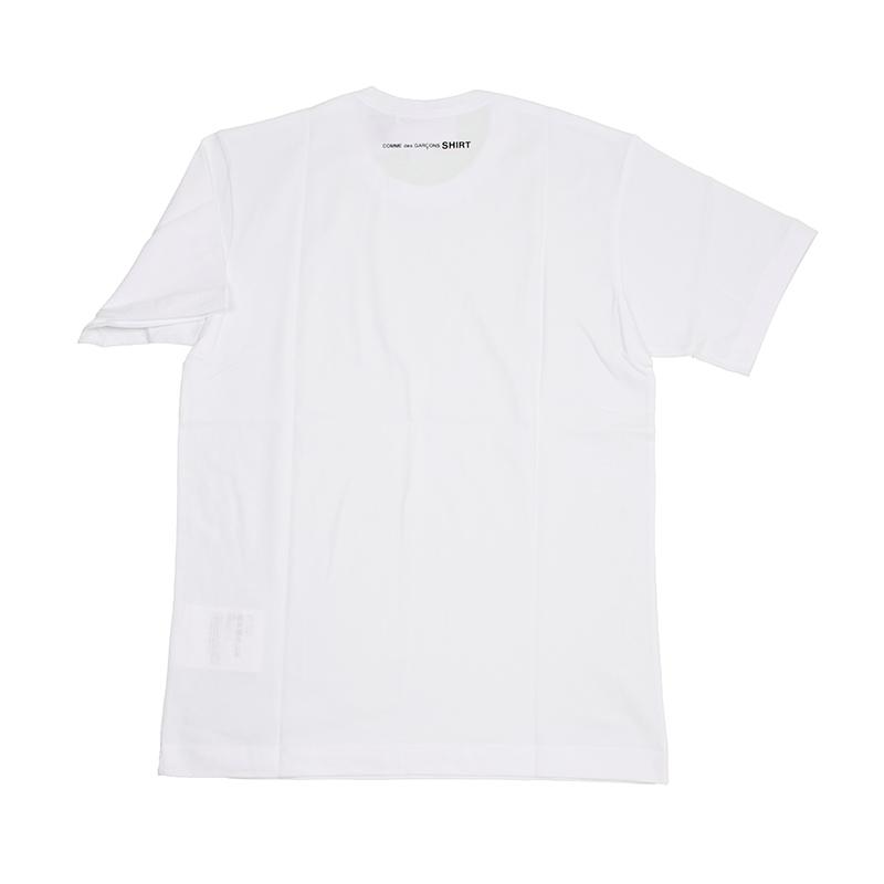COMME des GARCONS SHIRT コムデギャルソン ホワイト半袖Tシャツ イタリア正規品 新品