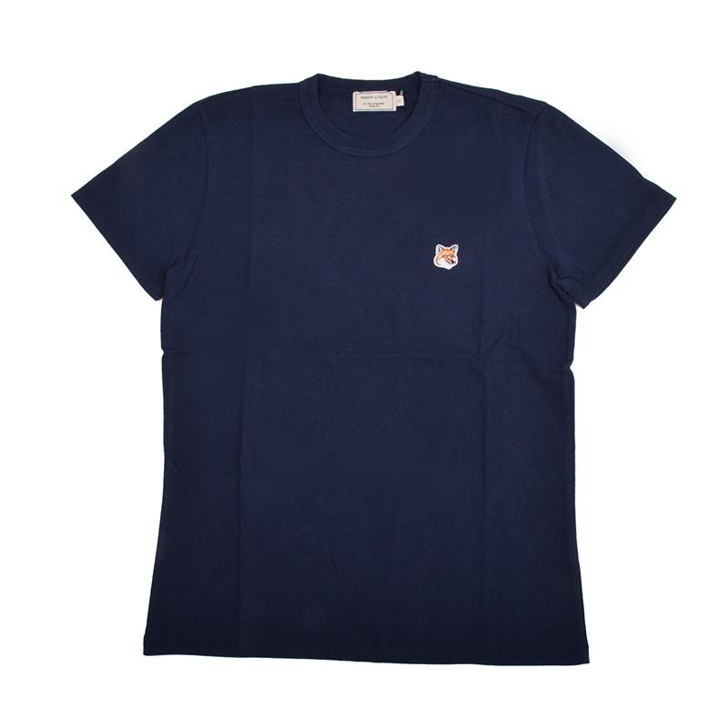 MAISON KITSUNE' PARIS メゾン キツネ キツネワッペンネイビー半袖Tシャツ イタリア正規品 メンズ 新品 AM00103KJ0008