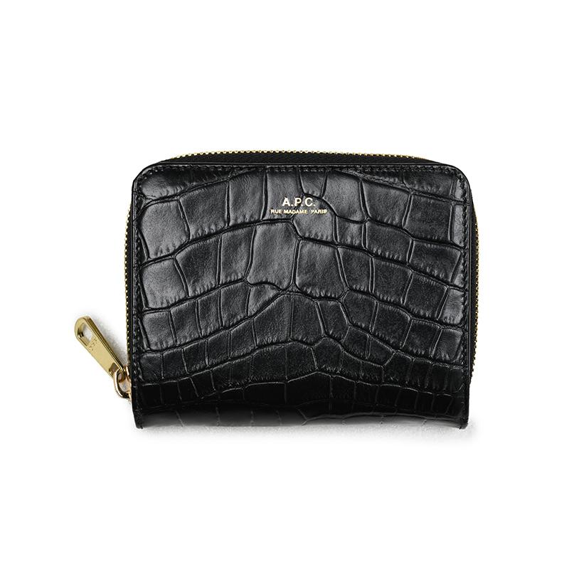A.P.C. アーペーセー ブラック二つ折り財布 イタリア正規品 新品 PXBLJ F63029 LZZ