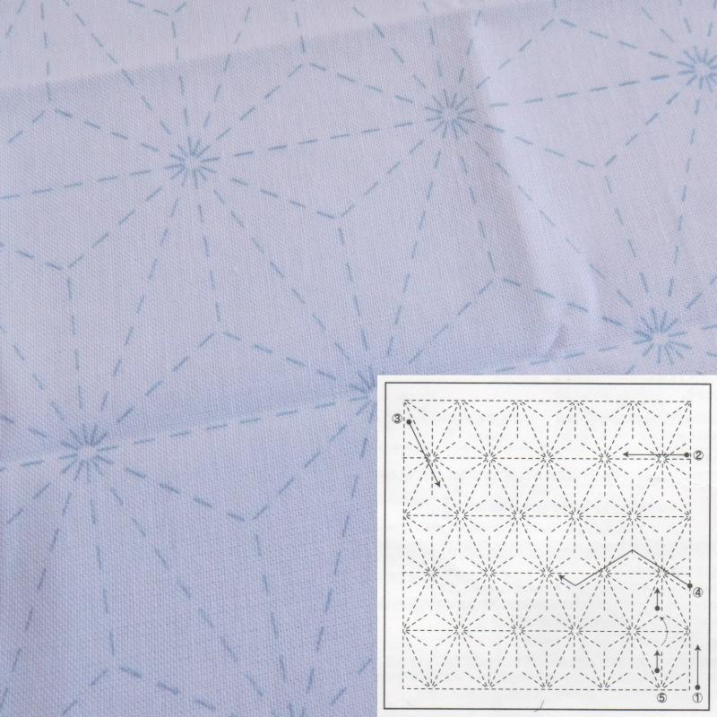 刺し子 オリムパス (訳ありセール 格安) 花ふきん 布パック 白 No.6 激安特価品 麻の葉