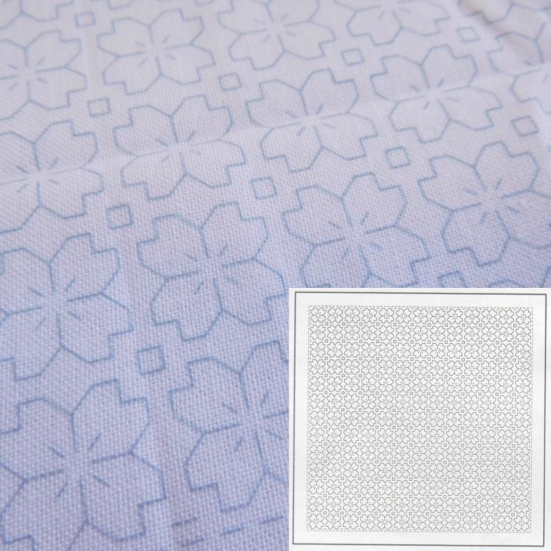 刺し子 割引も実施中 超激得SALE オリムパス 花ふきん 布パック H-1033 桜の花 一目刺し 白