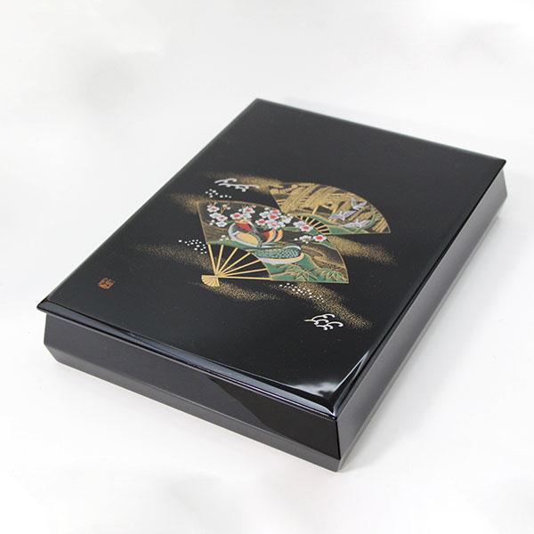 越前漆器 文庫 扇面おしどり 内梨地 文箱 漆塗り 越前塗 ぶんこ 国産 日本製 ファイルボックス