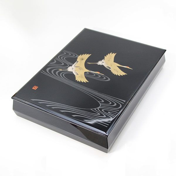 漆器 文庫 飛鶴 内梨地 越前漆器 木製 文箱 漆塗り 日本製 国産 越前塗 ファイルボックス