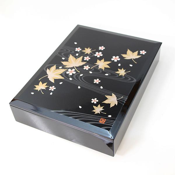 文箱 文庫 華おぼろ ファイルボックス 木製 漆器 国産 日本製