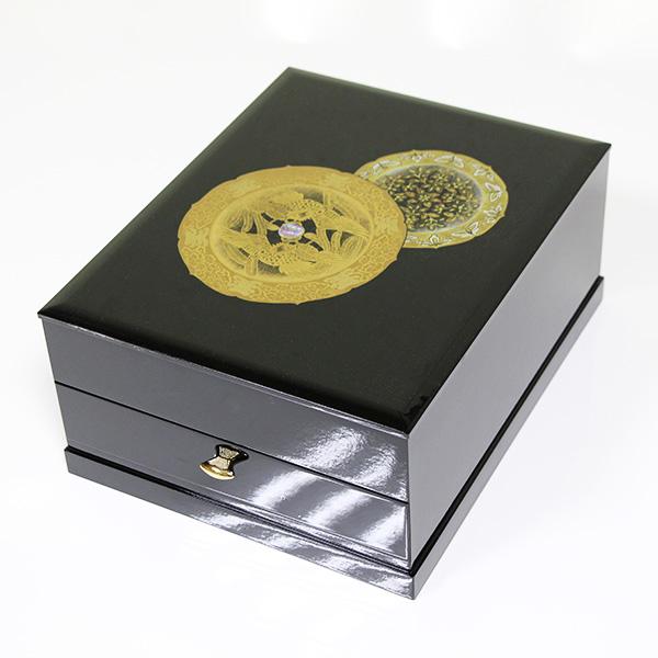 引出付 文庫 鳳凰 木製 文箱 ぶんこ 漆器 日本製 国産 ファイルボックス