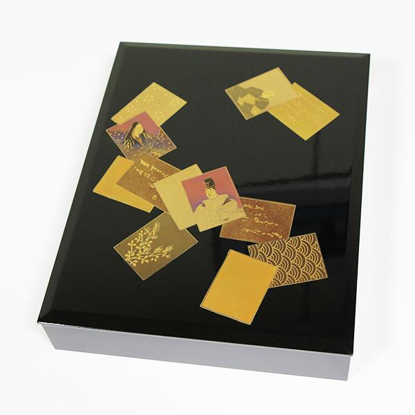 文庫 百人一首 文箱 A4サイズ 漆器 ファイルボックス 国産 日本製