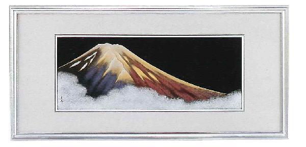 長手 漆芸額 アルミ 富士山 立山作 越前漆器