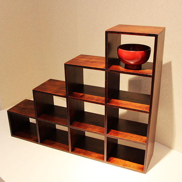 Ornament Shelves Stairway Drawers Lacquered Wooden Lacquer Ware Decorative Shelves Decorative Units