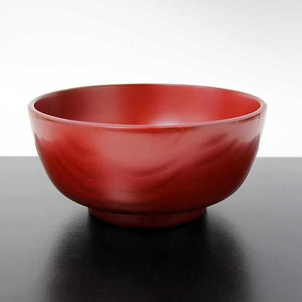 【送料無料】 丼麺鉢 栗 古代朱 畠中作 (越前漆器 木製 漆塗り 国産 お椀)