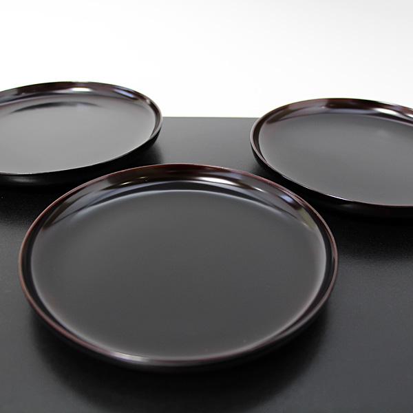 銘々皿 だるま 溜塗り 5枚 (木製 漆器 取り皿)