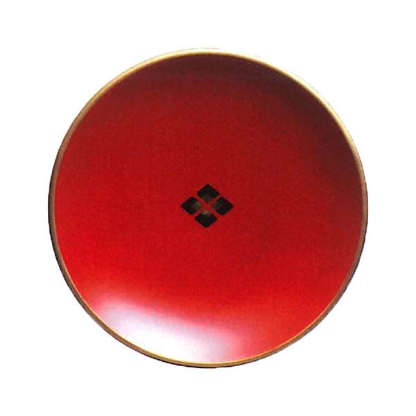 【送料無料】 銘々皿 朱菱 秀衡塗 5枚 (国産 木製 漆器 漆塗り 取り皿)