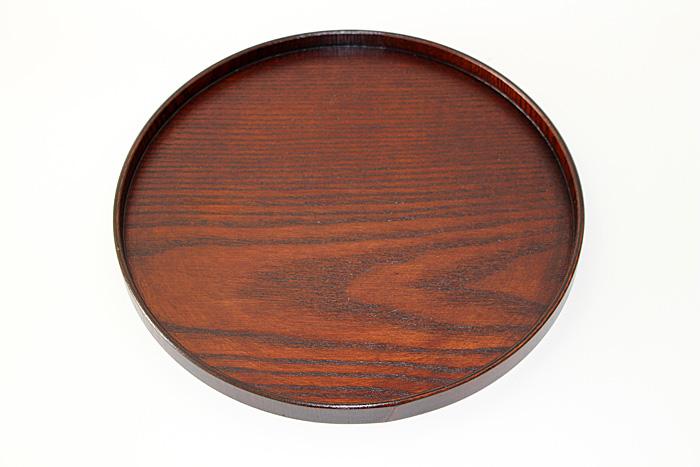 특별 가격 1 봉 스리 옻 칠 (목 제 칠기 추석 트레이) 직경 30cm