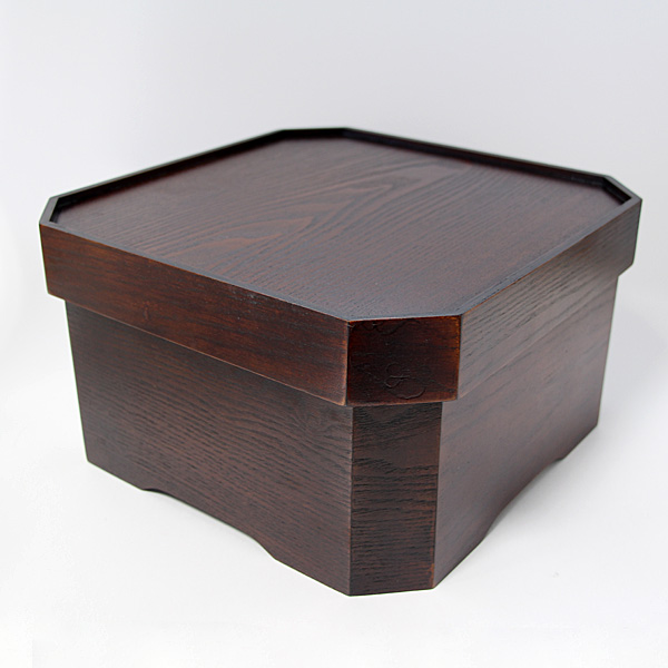 【送料無料】 箱膳 隅切 (木製 漆器 お膳)