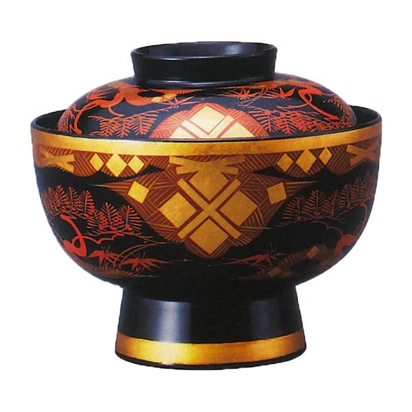 特選 吸物椀 松 (ひでひら 木製 蓋付きお椀 国産)
