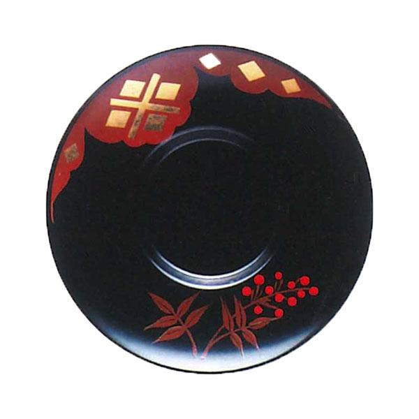 【送料無料】 茶托 南天 秀衡塗 5枚 (国産 木製 漆器 漆塗り)