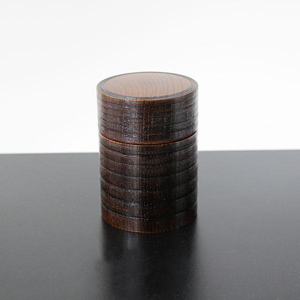 茶筒 漆塗り 欅 木製 漆器 ちゃづつ 国産 日本製