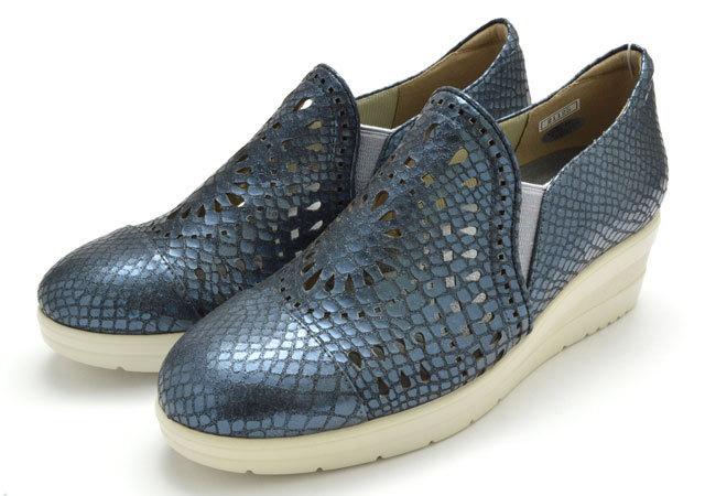 カジュアルモネ 21125 Casual Monet レディース カジュアル シューズ ウエッジソール 婦人 ネイビー 靴