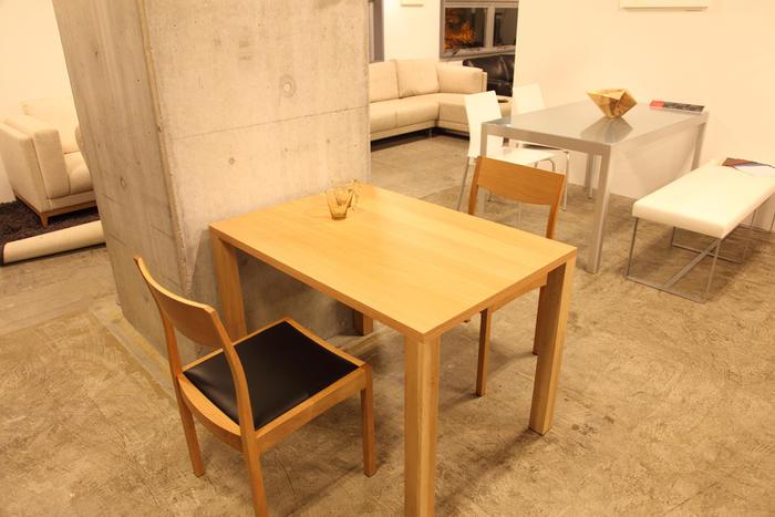 【旭川家具】天然木オリジナルダイニングテーブル