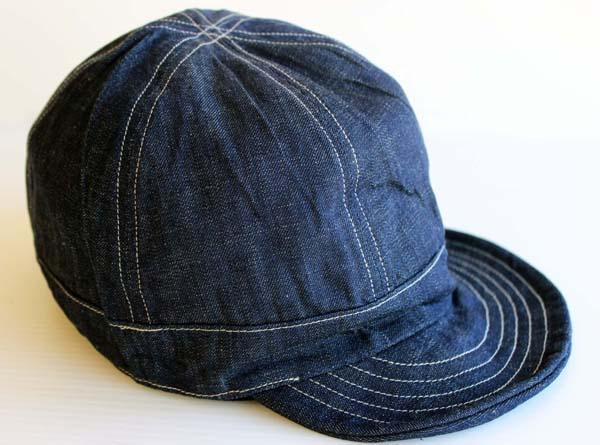 新品【GENERAG】6ピース デニム ワークキャップ L【メンズ】【帽子】【レール】【ワーク】【インディゴ】【コットン】【ビンテージ】【アメリカ】