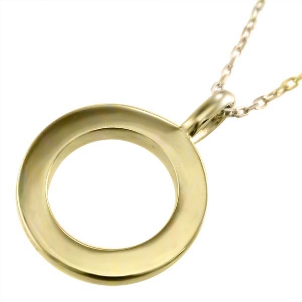 平打ち ペンダント メンズ 10金ゴールド (ホワイト イエロー ピンク)