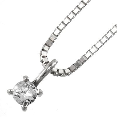 ネックレス レディース 4月誕生石 天然ダイヤモンド 約2.5mm 白金(プラチナ)900 約0.05ct