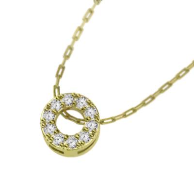 ジュエリー ペンダント レディース 4月誕生石 天然ダイヤモンド 18kゴールド 約0.10ct 約6mmサイズ (ホワイト イエロー ピンク)
