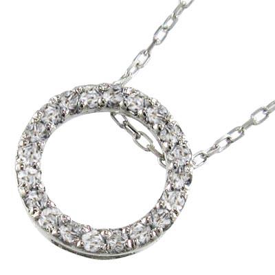 ネックレス レディース 4月誕生石 天然ダイヤモンド プラチナ900 約0.20ct 約10mmサイズ