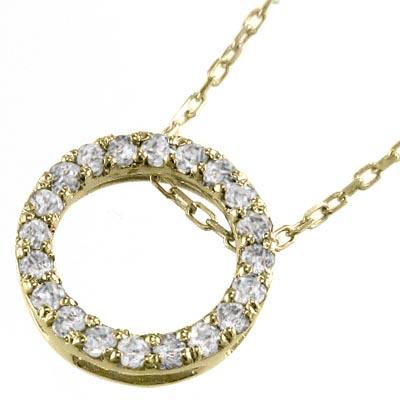ジュエリー ネックレス レディース 4月誕生石 天然ダイヤモンド k10ゴールド 約0.20ct 約10mmサイズ (ホワイト イエロー ピンク)