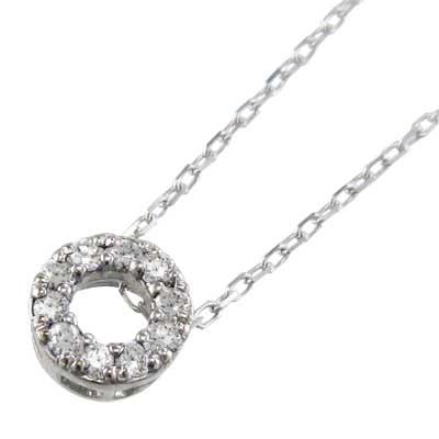 ペンダントネックレス レディース 4月誕生石 天然ダイヤモンド 白金(プラチナ)900 約0.10ct 約6mmサイズ